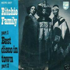 """SOUL SINGLE 45 RITCHIE FAMILY BEST DISCO IN TOWN 7 """" NL"""