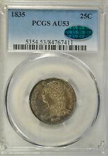 1835 Capped Bust quarter, PCGS AU53 CAC
