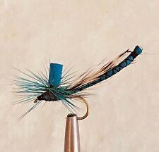 BLUE DAMSEL PARACHUTE DRAGONFLY TROUT FISHING DRY FLIES 6 FLIES X SIZE #12