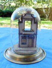 Goebel Olszewski 953-D Bavarian Cottage Miniature With Covered Glass Dome