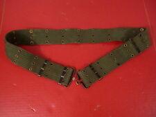 "Vietnam US Army/USMC M1956 Canvas Pistol Web Belt Med Waist to 36"" 1st Pattern"