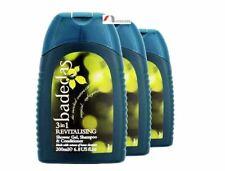 3x Badedas 3in1 Revitalising Body Shower Gel Hair Shampoo & Conditioner - 200 ml