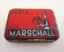 German Marschall Forte Gramophone Needle Metal Tin Case Box Antique/Vintage RED
