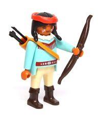 Playmobil Figure Western Indian Renegade Warrior w/ Bow Arrows 3878 RARE