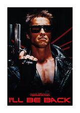 Quadro su pannello in legno MDF The Terminator Ill Be Back Misura 60x90 CM