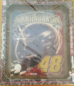 JIMMIE JOHNSON #48 LOWES R&R REFLECTIONS,  INC CLOCK (NEW)