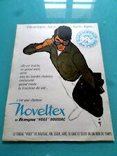 """publicités ancienne MODE CHEMISES NOVELTEX  """"illustrateur GRUAU""""   .(P0)"""