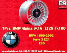 1 Cerchio BMW E30 E21 Alpine 8x16 ET28 4x100 Wheels Felgen Llantas Jantes TÜV