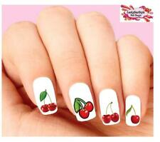Waterslide sherry Nail Decals Set of 20 - Red Cherries Assorted