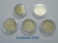 BRD Alle fünf 5 x 2 € Euro Sonder-/Gedenkmünze 2012 BARGELD 10 Jahre Euro-Münzen