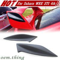 2020 Fit FOR SUBARU WRX 4th STI Type Trunk Spoiler Side Fins Cover Matte Black
