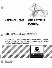 "NEW HOLLAND 60CO ROTARY BROOM  OPERATOR'S MANUAL ""NEW"""