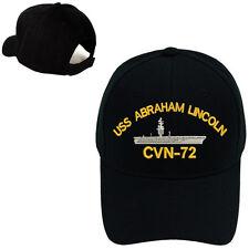 MILITARY BASEBALL CAP HAT USS ABRAHAM LINCOLN CVN-72