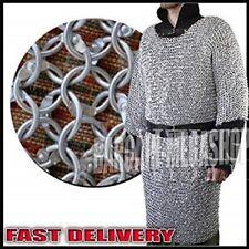 Aluminium Round Riveted Chain Mail Shirt XXXL 9m16ga Medieval Chain mail HAUBERK