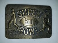 Pittsburgh Steelers/Dallas Cowboys 1978 Super Bowl XIII Brass Belt Buckle