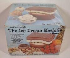 NEW Unopened Vintage 1974 Ronco Cordless Electric Ice Cream Maker Machine