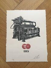 Shepard Fairey Obey Loom letterpress print