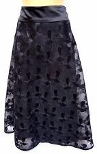 Plus Sz L / 22 TS Taking Shape Event Wear Dainty Skirt Black Luxe
