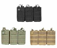 Valken Paintball Airsoft MOLLE Triple Mag Magazine Vest Pouch Black Olive Tan