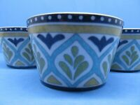 """222 Fifth Santiago 4 3/8"""" Appetizer Bowls Set Of 4 Appetizer Bowls  In Exc Cond"""