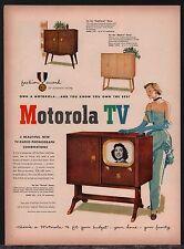 1950 MOTOROLA TV Television Radio Phonograph Console AD 17F4, 17F2, 17F3-B