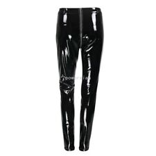 Sexy Womens Skinny Punk Faux Leather Patent Long Pants Leisure Slim Fit Trousers