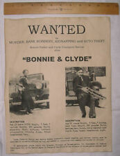 BIG 11 x 14 Bonnie & Clyde Wanted Poster, Gangster, Outlaw, Bank Robber