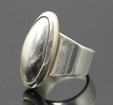 Modernist Sterling Silver Ring 6.75 Taxco Mexico Vintage Highly Polished