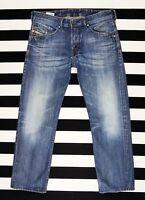 DIESEL Men's BELTHER Regular Fit Slim Tapered Blue Jeans Wash_0813T size W32