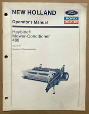 Ford NEW HOLLAND Haybine 488 Operator's Manual 1988 VG