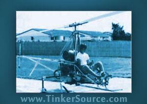 AW Choppy Hobbycopter Homebuilt Ultralight Helicopter Plans DIY construction CD