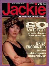 Jackie Magazine 16 November 1985 Issue 1141 Kate Bush Dave Gahan of Depeche Mode