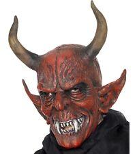 Halloween Fancy Dress Demon Devil Mask Full Overhead #25314 New by Smiffys
