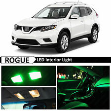 11x Green LED Lights Interior Package Kit for 2008-2016 Rogue