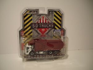 GREENLIGHT 1/64 RED AND WHITE 2019 MACK LR REFUSE AND RECYCLE TRUCK DCP TIE