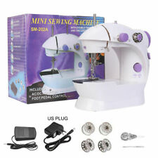 Mini Electric Sewing Machine 64 Rolls Line Household Tailor 2 Speed Foot Pedal