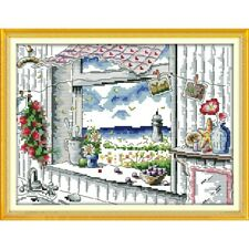 HARBOUR VIEW COUNTED CROSS STITCH KIT 14 COUNT AIDA 32x26CM