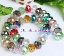 1000pcs 3x4mm Multicolor Crystal Faceted Gems Loose Beads