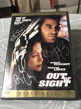 Out of Sight Autographed DVD George Clooney Jennifer Lopez Steven Soderbergh
