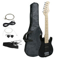 "30"" BlackElectric Guitar + Bag Case + Guitar Strap Beginners Excellent Quality"