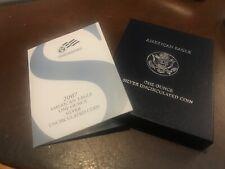 (310) 2007 W AMERICAN SILVER EAGLE UNCIRCULATED DOLLAR COIN US MINT BOX & COA