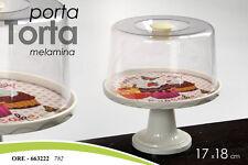 PORTA TORTA CON PIEDE MELAMINA 17*18 CM ORE-663222