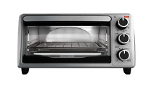 Black and Decker 4-Slice Toaster Oven Stainless Steel TO1303SB NEW Free Shipping