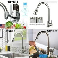 Brushed Faucet Water Filter Sink Pull Down Sprayer Tap Kitchen Bathroom System