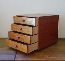 Vintage Wooden Craft Sewing Spool Drawers   Haberdashery   Desk Storage Cabinet