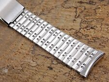 Vintage Stainless Steel Bulova Watch band bracelet 19mm 3/4 inch or 17.5mm NOS
