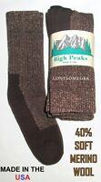 3 Pairs Womens Soft Acrylic Merino Wool Blend Cushioned Thermal Boot Crew Socks