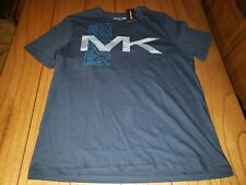 Michael Kors Men's Big Logo Short Sleeve Graphic Tee Midnight Blue Size L
