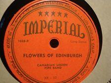 CANADIAN LEGION PIPE BAND highland schottische/flowers of edinburgh 78T PROMO++
