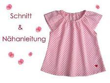 Schnitt+ Nähanleitung Carmen Bluse für Mädchen Gr. 68-140 als Ebook